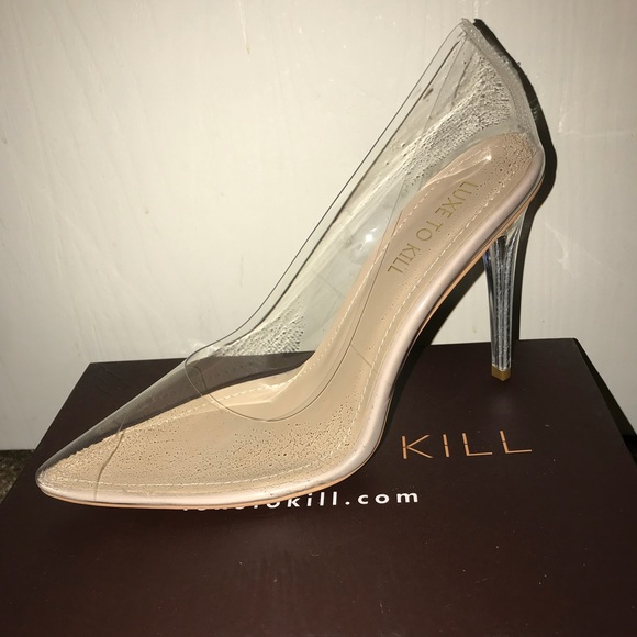 6c424cceae7 Luxe to Kill Shoes - Clarissa Beige Pumps in Clear Perspex